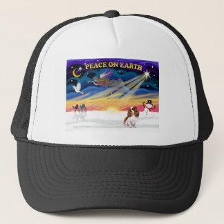 XmasSunrise-Cavalier-Blenheim2 Trucker Hat