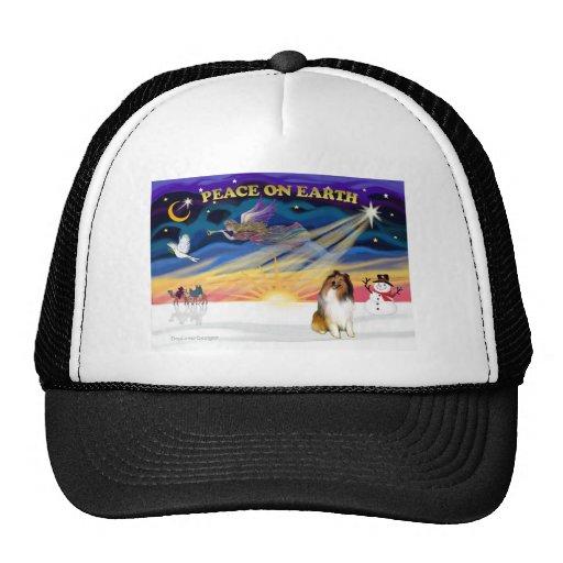 XmasSunrise-Collie 1 Mesh Hats