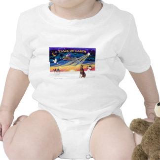 XmasSunrise-Doberman-rojo Trajes De Bebé