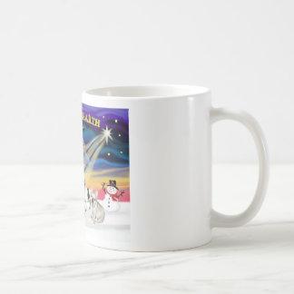 XmasSunrise-Four FrenchBulldogs Mug