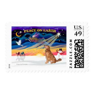 XmasSunrise - Golden Retriever 10 Stamp