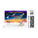 XmasSunrise - Great Pyrenees 1 Postage Stamp