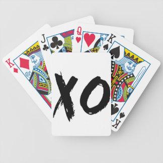 XO Brush Minimal Bicycle Playing Cards
