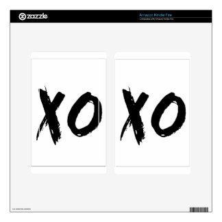 XO Brush Minimal Decals For Kindle Fire