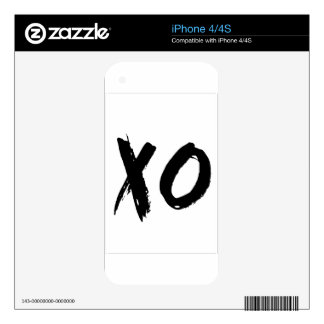 XO Brush Minimal iPhone 4 Skins