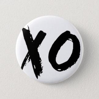 XO Brush Minimal Pinback Button