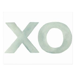 XO Gray watercolor Postcard