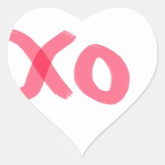 xo heart sticker