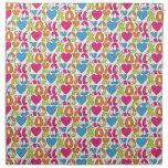 XO Hearts Valentines Napkin