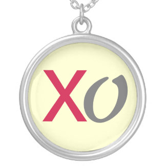 XO Hugs and Kisses Silver Necklace