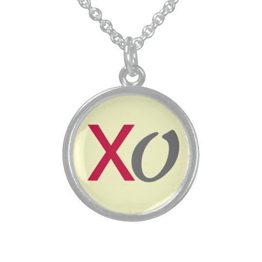XO Hugs and Kisses Sterling Silver Necklace