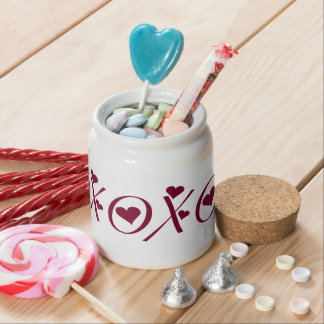 XO Hugs n Kisses Hearts Valentine s Day Candy Jar