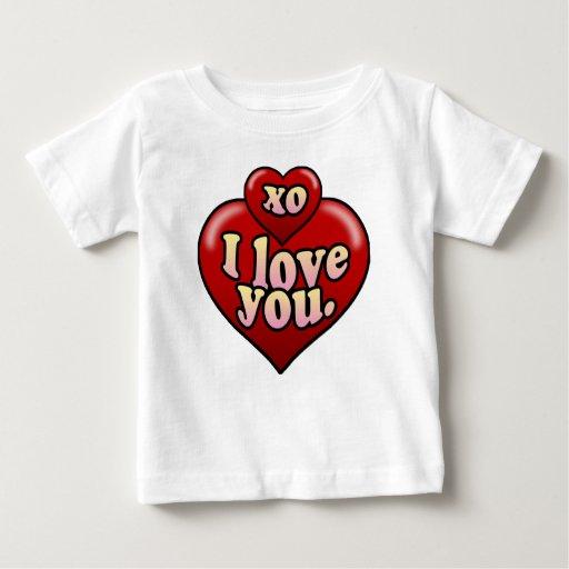 XO I love you with hearts. Shirt