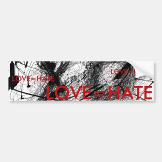 XO, LOVE=HATE PEGATINA PARA AUTO