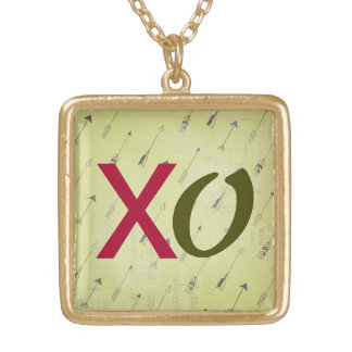 XO Outrageous Love Gold Plated Necklace