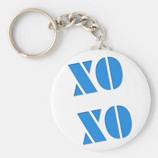 XO XO BASIC ROUND BUTTON KEYCHAIN