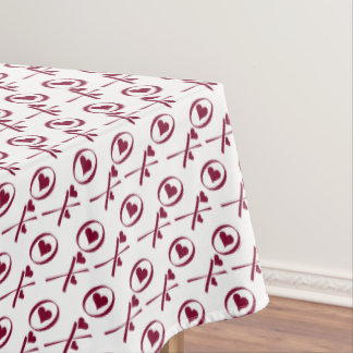 XO XO Valentineu0026#39;s Day Hugs And Kisses Love Hearts Tablecloth
