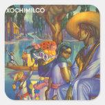 Xochimilco Square Stickers