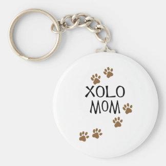 Xolo Mom Basic Round Button Keychain