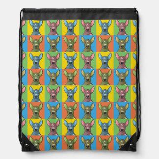 Xoloitzcuintle Dog Cartoon Pop-Art Cinch Bags
