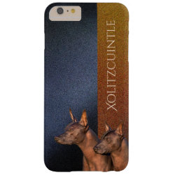 Case-Mate Barely There iPhone 6 Plus Case with Xoloitzcuintli Phone Cases design