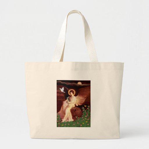 Xoloitzcuintle (Xolo) - ángel asentado Bolsa De Mano