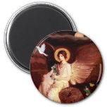 Xoloitzcuintle (Xolo) - ángel asentado Imán
