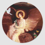 Xoloitzcuintle (Xolo) - ángel asentado Pegatina Redonda