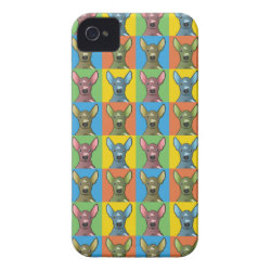 Case-Mate iPhone 4 Barely There Universal Case with Xoloitzcuintli Phone Cases design