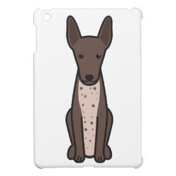 Case Savvy iPad Mini Glossy Finish Case with Xoloitzcuintli Phone Cases design