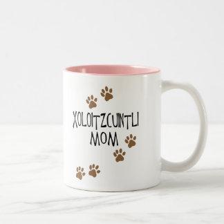 Xoloitzcuintli Mom Two-Tone Coffee Mug