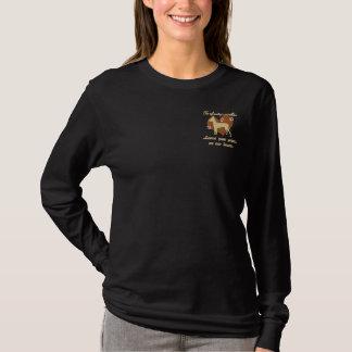 Xoloitzcuintlis Leave Paw Prints Embroidered Shirt