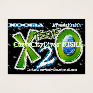 Xooma X2O A toast 2Health Business Card