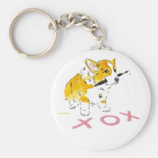 XOX Corgi Keychain