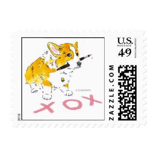 XOX Corgi Stamp