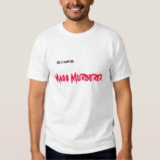 xox del hombre del xox D, asesino en masa Playera