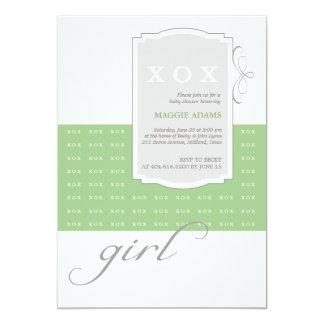 XOX Girl Custom Baby Shower Invitation