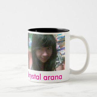 xoxo052, krystal arana Two-Tone coffee mug