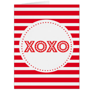 XOXO and lines ı Valentine greetings Card