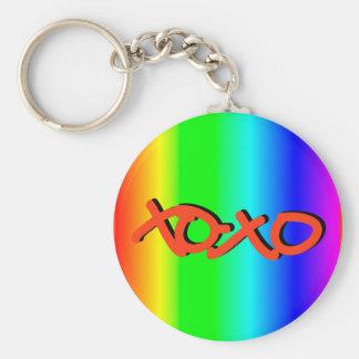 XOXO BASIC ROUND BUTTON KEYCHAIN
