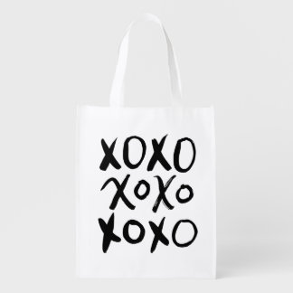 XOXO | Black Brush Script Reusable Grocery Bags