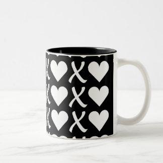 XOXO Black Two-Tone Coffee Mug