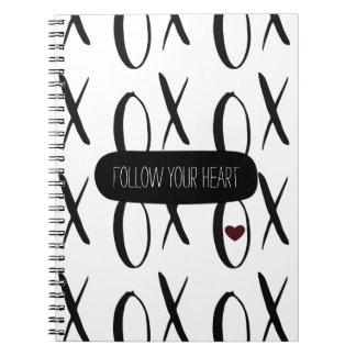 XOXO blanco y negro Cuadernos