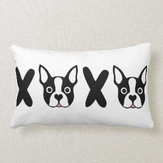 """""""XOXO"""" Boston Terrier Cushion"""
