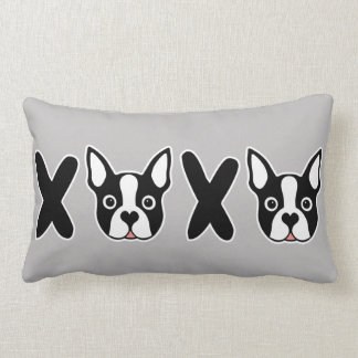 """XOXO"" Boston Terrier Double Sided Cushion"