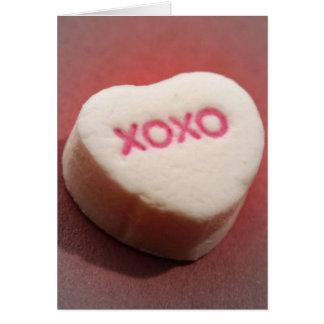 XOXO candy heart Card