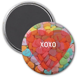 XOXO-Candy Hearts with New Sayings Fridge Magnets