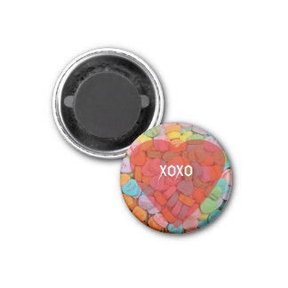 XOXO-Candy Hearts with New Sayings Fridge Magnet