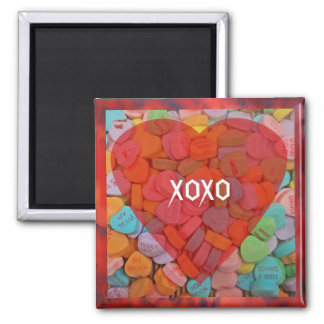 XOXO-Candy Hearts with New Sayings Magnets
