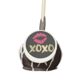 XOXO Faux Gold & Pink Lips Cake Pops